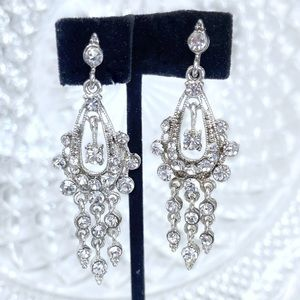 Swarovski Mini Chandelier Bridal Prom Earrings